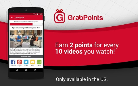 screenshot of GrabPoints - Free Gift Cards version 1.7