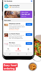 screenshot of Grubhub: Local Food Delivery & Restaurant Takeout version 7.51