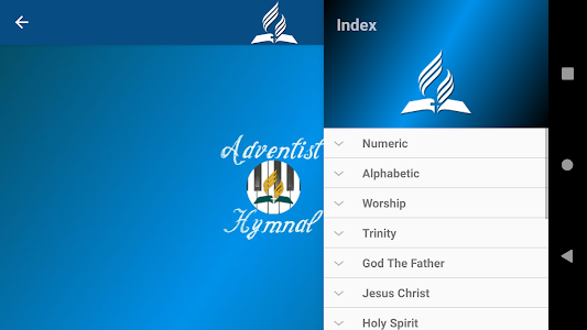 screenshot of Adventist Hymnal Complete version 5.2.4