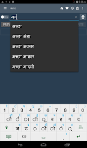 screenshot of English Hindi Dictionary version Nao