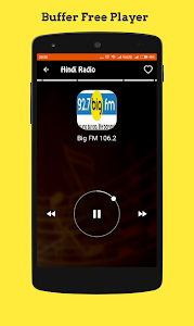 screenshot of Hindi Radio Online version 2.2