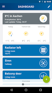 screenshot of Home Control version 1.8.0