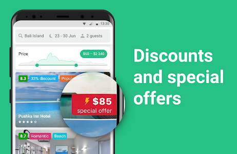 screenshot of Cheap hotel deals and discounts — Hotellook version Varies with device