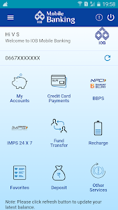 screenshot of IOBMobile version Varies with device