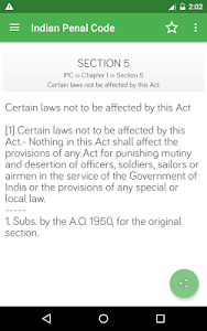 screenshot of IPC - Indian Penal Code version 2.0