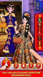 screenshot of Indonesian Doll Fashion Salon version 1.4