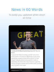 screenshot of Inshorts - 60 words News summary version 4.4.5