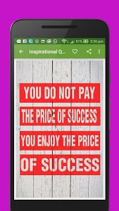 screenshot of Inspiring Quotes and Thoughts version 1.2.4
