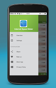 screenshot of Internet Speed Test version 1.0