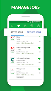screenshot of Glassdoor Jobs & Career - find jobs, apply today version 8.5.4