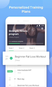 screenshot of Keep Trainer - Workout Trainer & Fitness Coach version Varies with device
