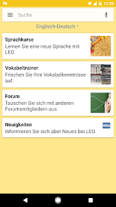 screenshot of LEO dictionary version Varies with device