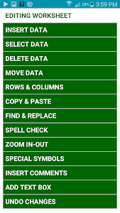 screenshot of Learn MS Excel Complete Guide (OFFLINE) version 1.0.2