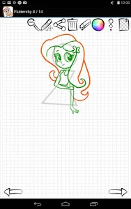 screenshot of Learn to Draw Equestria Girls version 1.03