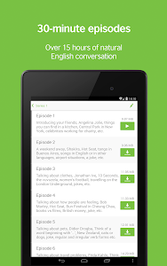 screenshot of LearnEnglish Podcasts - Free English listening version 3.8.0