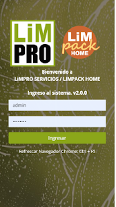 screenshot of LiMPRO Servicios App version web2apk 8