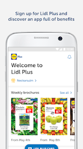 screenshot of Lidl Plus version 14.18.1