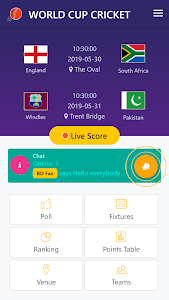 screenshot of Live World Cup Cricket version 1.4