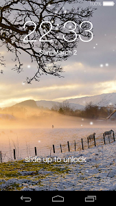 screenshot of Lock screen(live wallpaper) version 5.6
