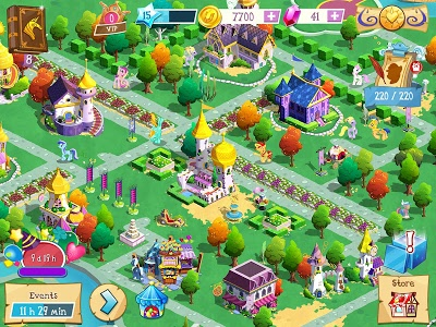 screenshot of MY LITTLE PONY: Magic Princess version 6.0.0a