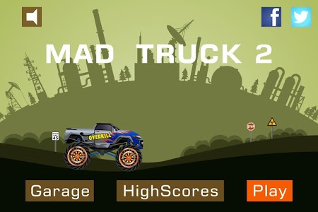 screenshot of Mad Truck 2 -- physics monster truck hit zombie version 3.71.5