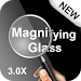 Magnifying glass - magnifier with light