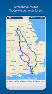 screenshot of MapFactor GPS Navigation Maps version Varies with device