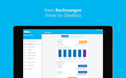 screenshot of Mein Blau version 2.1.1