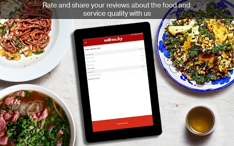 screenshot of Menu.by — restaurant food delivery version 2.0.0.8