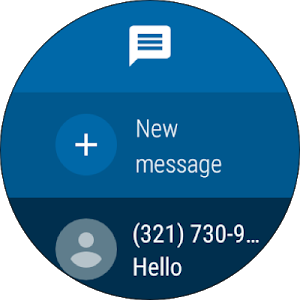 screenshot of Messages version Varies with device