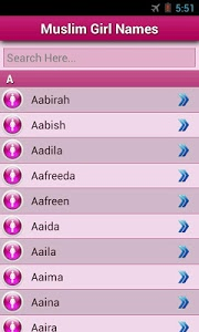 screenshot of Muslim Baby Names and Meaning! version 1.5