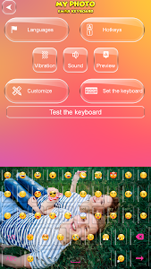 screenshot of My Photo Emoji Keyboard version 2.3