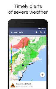 screenshot of NOAA Weather Radar Live & Alerts version 1.23