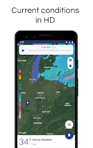 screenshot of NOAA Weather Radar Live & Alerts version Varies with device