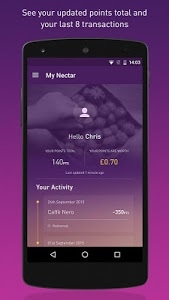 screenshot of Nectar - Offers and Rewards version 6.1.0