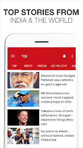 screenshot of News by The Times of India Newspaper - Latest News version 5.4.6.5