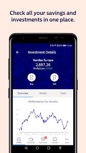 screenshot of Nordea Mobile - Finland version Varies with device