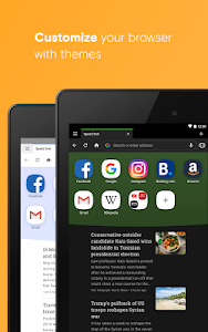 screenshot of Opera browser beta version Varies with device
