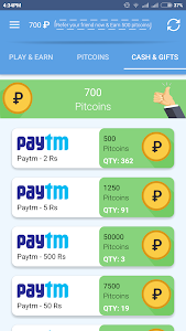 screenshot of PIPIT Free Paytm Cash,Recharge version 1.0.1