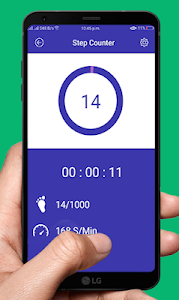 screenshot of Pedometer Step Counter version 1.0