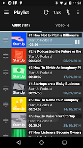 screenshot of Podcast Addict version 3.4
