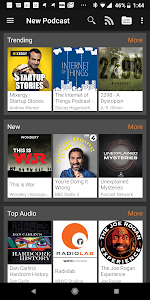 screenshot of Podcast Addict version 4.4.1