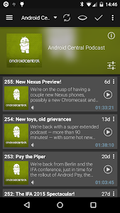 screenshot of Podcast & Radio Addict version 3.23