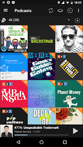 screenshot of Podcast Addict version 3.45.2