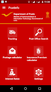 screenshot of Postinfo version 2.8