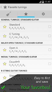 screenshot of Pro Guitar Tuner version 2.2.9