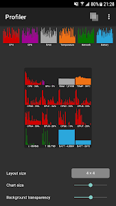 screenshot of Profiler version 1.5.5