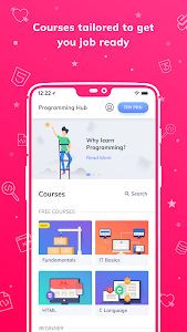 screenshot of Programming Hub: Learn to Code version Varies with device