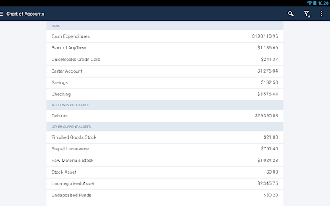 screenshot of QuickBooks Accounting: Invoicing & Expenses version 19.7.0
