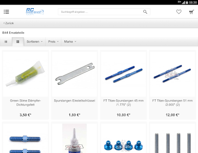 screenshot of RC-Race-Shop.de version 5.38.0